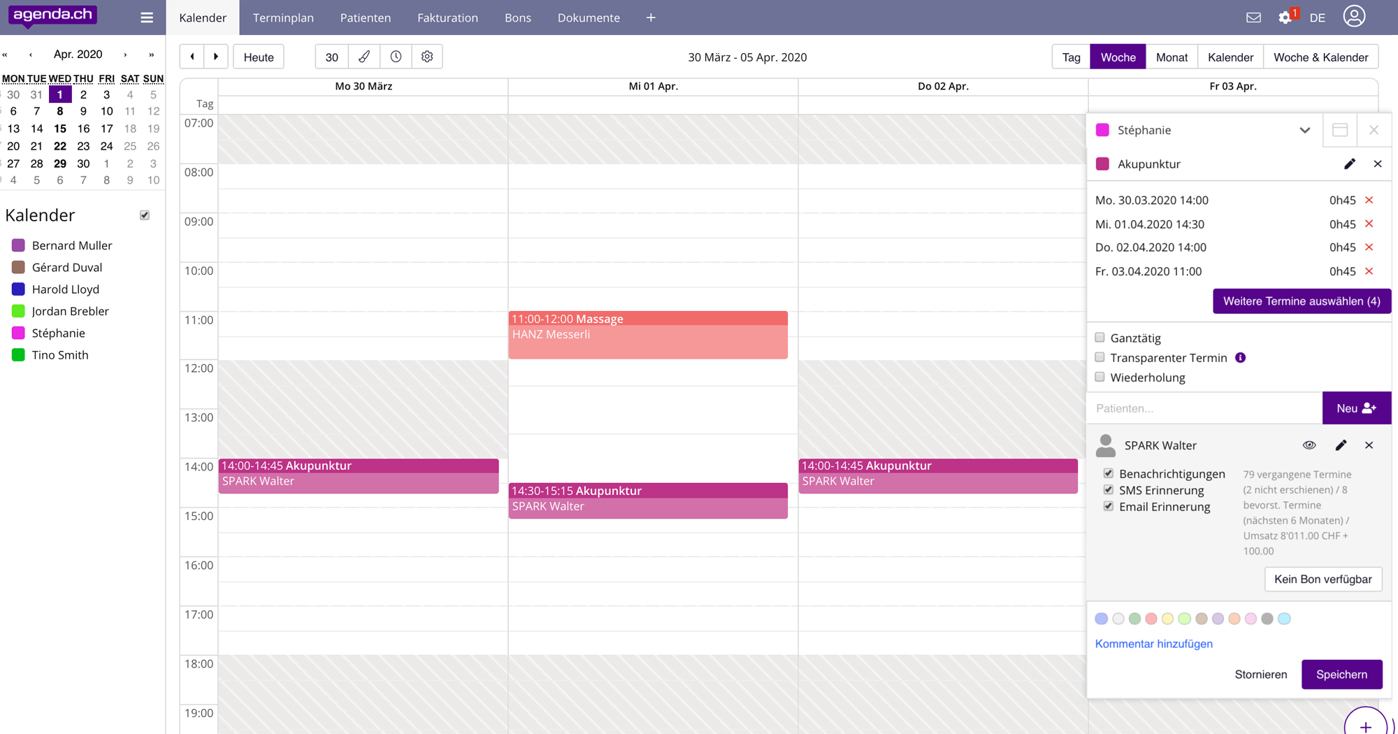 Features 1 agenda multibooking de